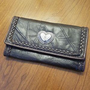 Vintage patchwork leather wallet